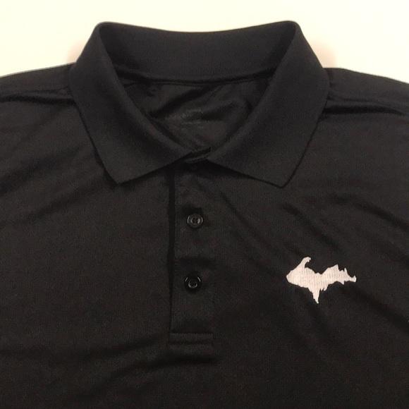 Other - MICHIGAN U.P. Black Golf Polo Shirt Mens Large